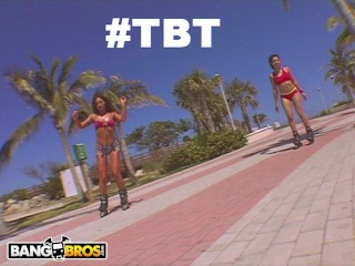 BANGBROS - Throwback Thursday: RollerBlade Booty with Naomi and Sabara