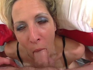 Cock Crazy Marie Madison Worships Cock and Cums While Sucking Dick