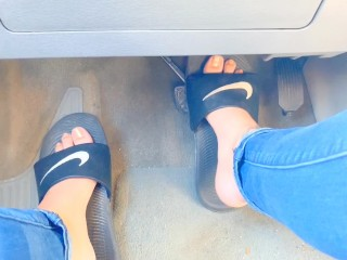 Pedal pumping with slides and barefoot TEASER