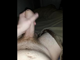 Playing with my cock before bed