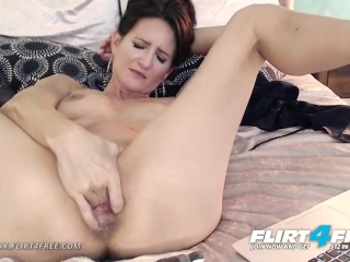 Mika Cox on Flirt4Free – Sexy Cougar Babe w Big Tits Makes Her Pussy Squirt