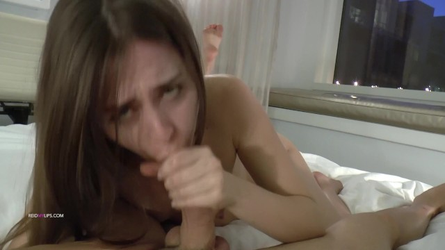 Riley Reid Craves Bed Time Snack of Fat Cock and Cum