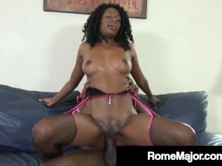 Ebony Church Fuck Flick! Rome Major Fucks Milf Brandi Foxx!