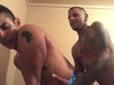 Puerto Rican's fuck in a bathhouse