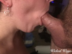 MILF Katja Sucks my cock and takes all my cum in her mouth