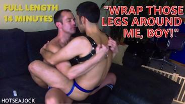 Alpha Top Aggressively Barebacks Leather Boy Bottom