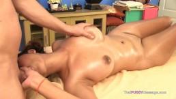 Thai Massage big natural boobs bareback creampie