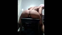 Big Booty Girl Fucks Chair