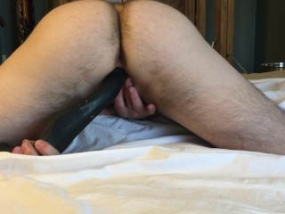 Horny FTM Gets off Stroking and Fucking Himself
