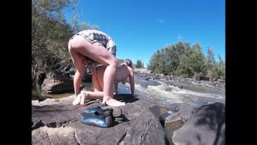 Amateur Couple Risky Nude Public River Fucking - Doggystyle
