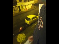 Jerking off outside close up cum Got caught by a taxi - Camilo Brown