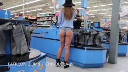 Candid teen booty shorts in walmart