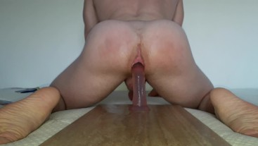Quick ANAL ride in college dorm while roommate taking shower NEXT DOOR
