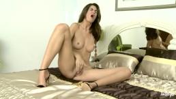 Twistys - Beautiful Charlotta fucks herself with a glass dildo