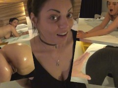 Celebrating the big latina ass of Alessia Caliente in spanish hotel room