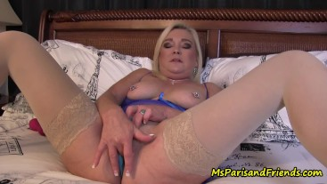 Ms Paris Loves to Masturbate in ALL Her New Panties