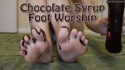 Chocolate Syrup Foot Worship (teaser) (60 FPS)