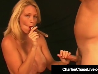 Hot Smoker Milf Charlee Chase Makes Boy Toy Lick Her Pussy!
