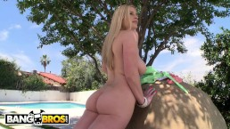 BANGBROS - Blonde PAWG Danielle Delaunay Takes Anal From Chris Strokes