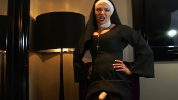 Nun Dominates You With Her Cock
