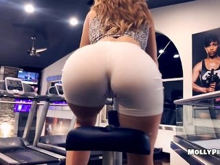 Puerto Rican Big Ass Gym Distractions - Pov Public Blowjob - Molly Pills Amateur Goddess