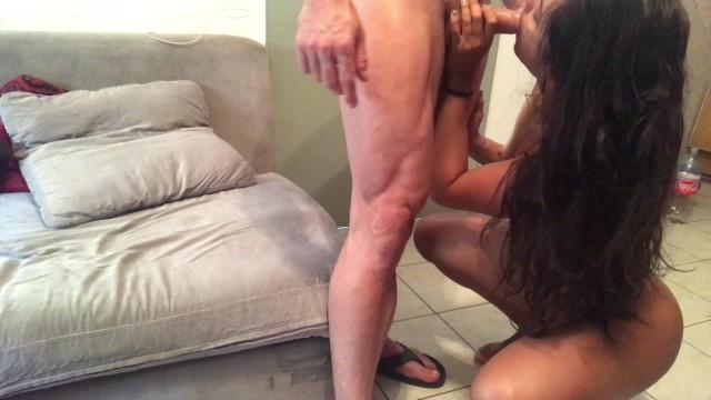 Teen Girlfriend Sucking and Riding Cock