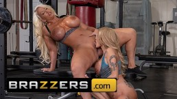 Brazzers - Gym milfs Alura Jenson & Joslyn James Get competitive