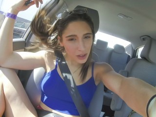 Thickumz - Almost Caught! Twerking In Public With Abella Danger