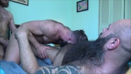Raw 4-Way Group Gay Sex for Sexy FTM TransMan