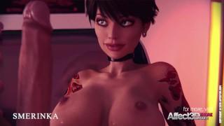 Sexy Futa animation with sex toys