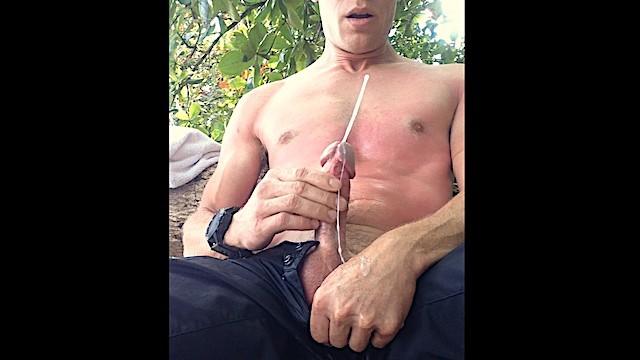 Costa rica chica porn - Pissing swim trunks and a public beach cumshot in costa rica