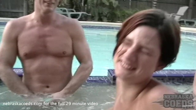 Bisexual garden hos Running a garden hose into a party girls pussy behind the scenes