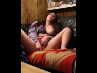 MiiHoe420 StepMom Playing with her Cunt for StepSon While Daddy Is Sleeping