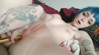 Pussy and asshole play