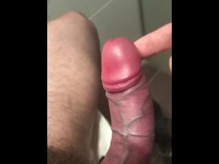 Using my cum for a Frenulum massage