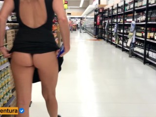 Real Amateur Public Anal Sex Risky on Super market! People walking near…