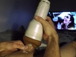 Fleshlight Blowjob Cum on Lips