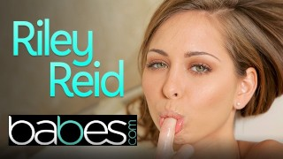 Babes - Cute Petite Riley Ried soaps up her small tits and tight teen pussy