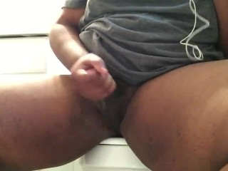 Playing with my hard dick