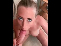 Privates Handyvideo! Sex in der Dusche gefilmt - LeoniePur