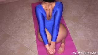 Spessa e Flessibile Viola di Yoga Stretch