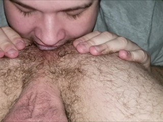 "Bi Hairy College Otter Ass Rimmed & Nice 7"" Dick Sucked Off Vocal Cumshot"