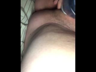 My girlfriend pleasing her wet pink pussy