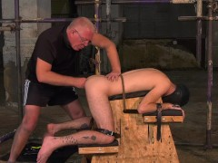 Delicious sub twink tied up for very deep anal play