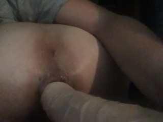 Ex comes over and fucks me with huge dildo while I sleep and snore