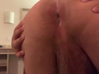 Fucking my chubby ass with a vibrator