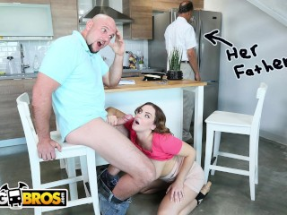 BANGBROS - Natasha Nice Tutors Jmac, With Her Mouth and Pussy, Behind Daddy