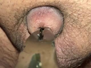Torturing my lil dicks piss hole