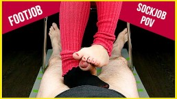 Footjob and Sockjob for YOU POV