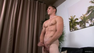 ActiveDuty Gorgeous Marine Spencer Laval Jacks his Hot Cock